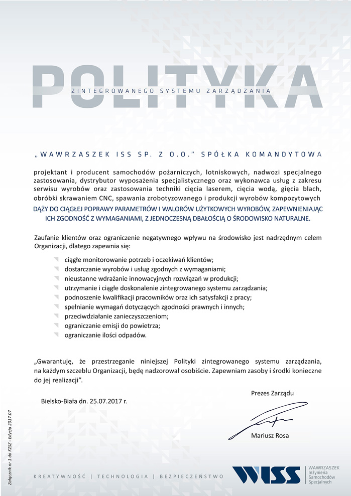 Zertifikate wiss for Bureau veritas polska